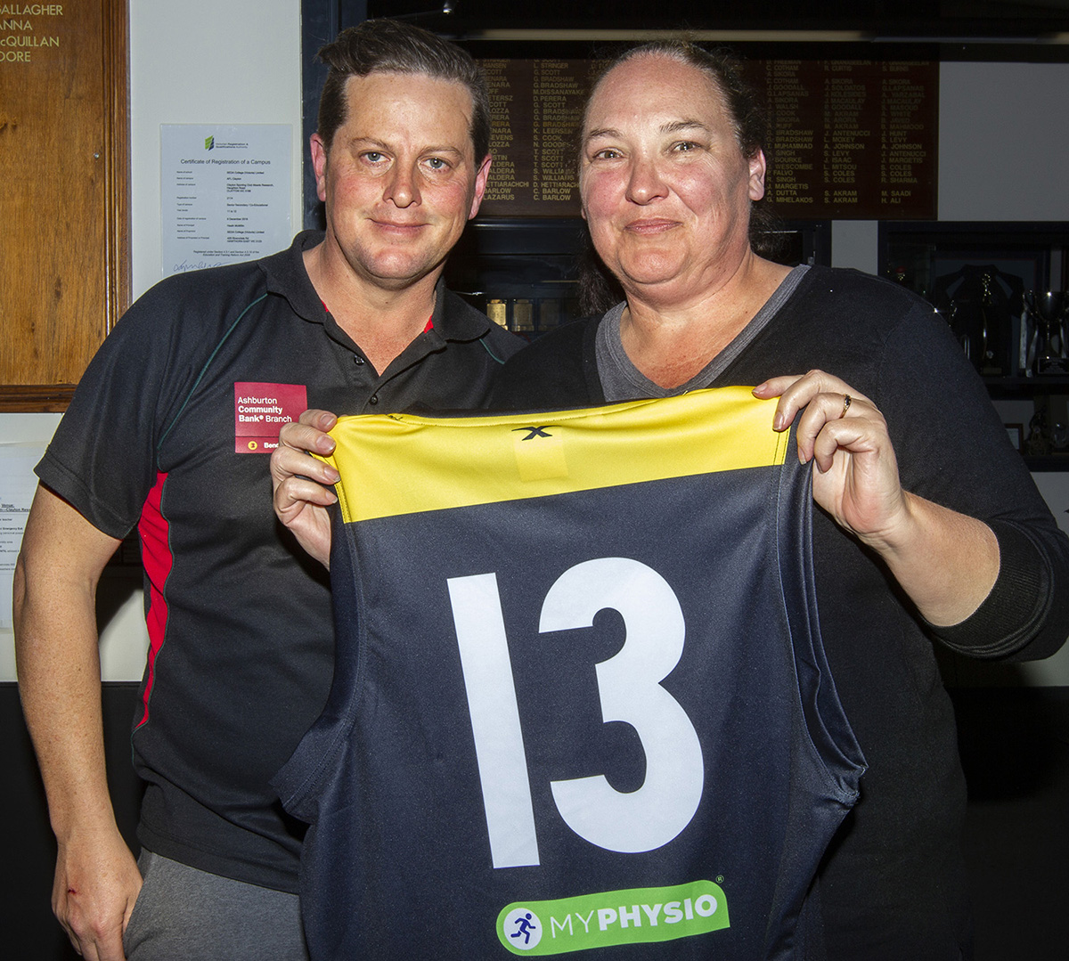 Jumper presentation night for season 2018. Sue Emery was overwhelmed with the moment, and overcome.