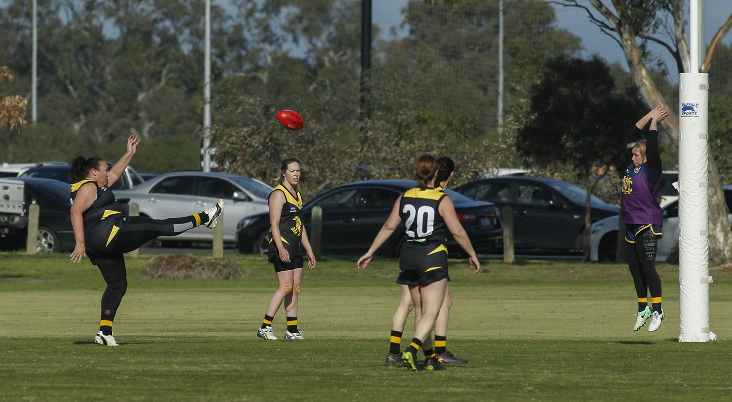 Game one in the first season. Emery provided a powerful presence at full forward for Waverley Warriors.