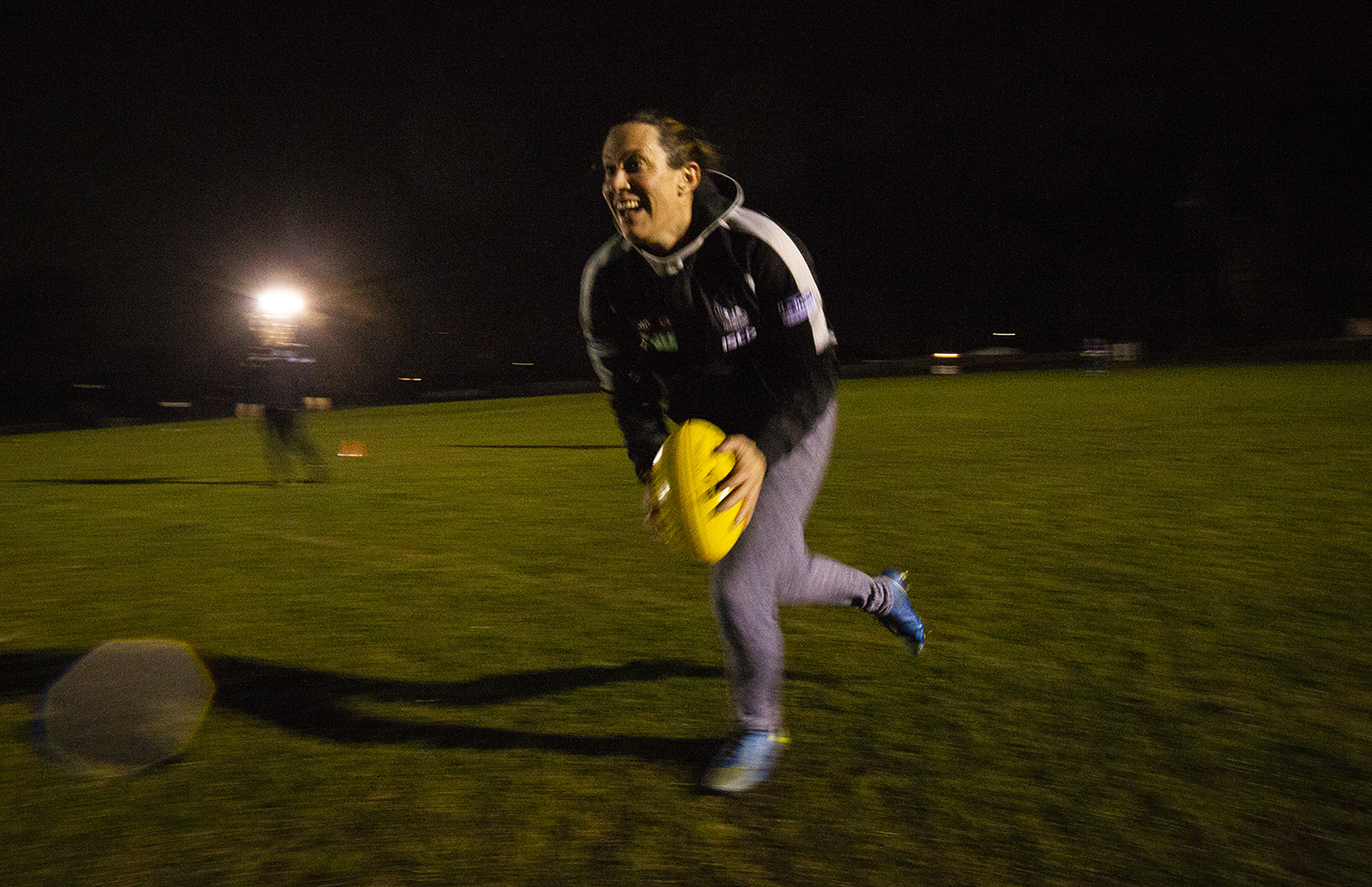 Even in the depths of a winter training session the joy of participating in a team game was evident with Hay.