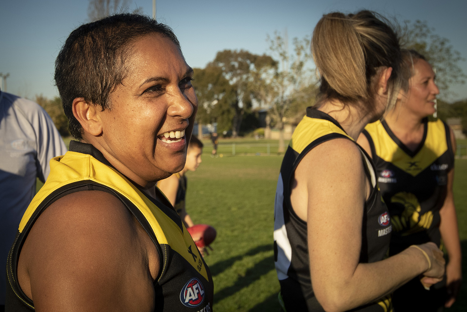 Anita O'Shea has engaged a new group of friends in pursuing a common sporting goal courtesy of the fledgling AFL Women's Masters football competition.