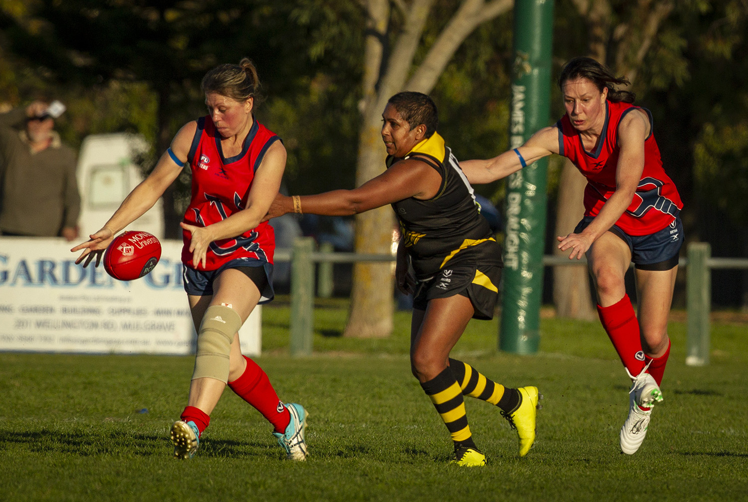 The level of skills displayed in this new competition has been steadily improving, but for a cohort of women who have grabbed a chance to compete in Australian Rules football after most thought that chance might be gone, there has never been any query about their levels of enthusiasm and intensity.