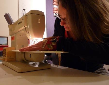 With my 1975 Bernina...still going strong.