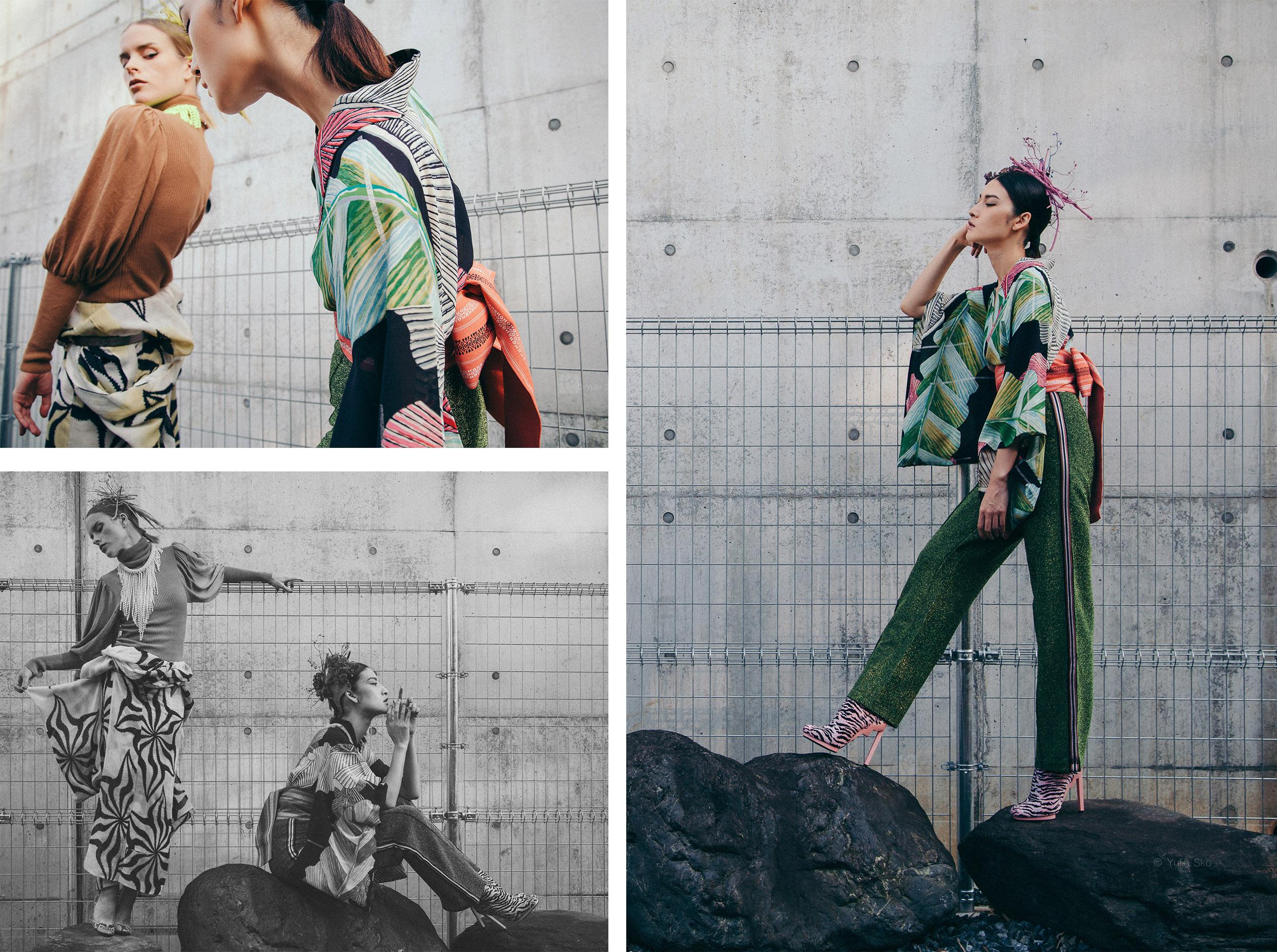 Urban Kimono styling