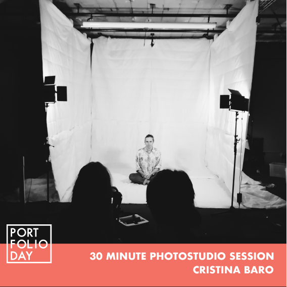 UPDATE: FULLY BOOKED. REGISTER FOR WAITLIST    EVENT TIME: 16.00 - 18.00   30 minutes in our photo studio under the assistance of a photographer. Bring your concept and props and we've got the rest.  The photo session will be guided and assisted by Cristina Baró Miró, a photographer currently working at STPLN. She will help you out with the whole process!  Time slots can be booked by a single person or groups up to 4 people. Only 4 slots available