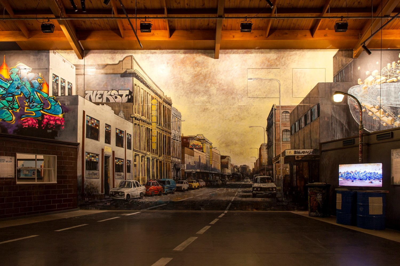 Thom Buchanan mural, Rise 2014 Christchurch – credit Luke Shirlaw
