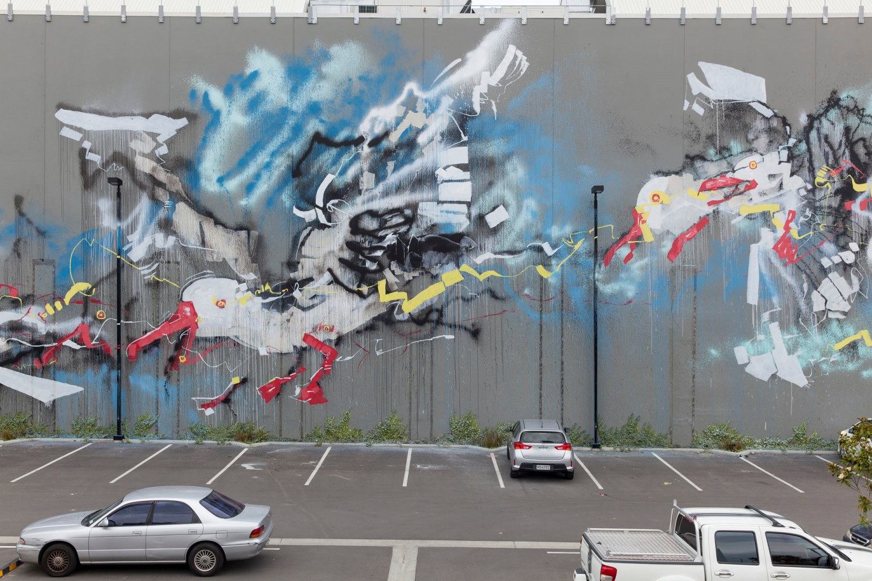 Anthony Lister mural, Rise 2014 Christchurch – credit Luke Shirlaw