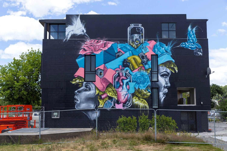 Deak William mural, Rise 2014 Christchurch – credit Luke Shirlaw