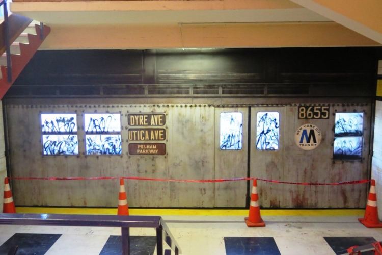 Build completed on subway train,  Spectrum 2015 Christchurch – credit Luke Shirlaw