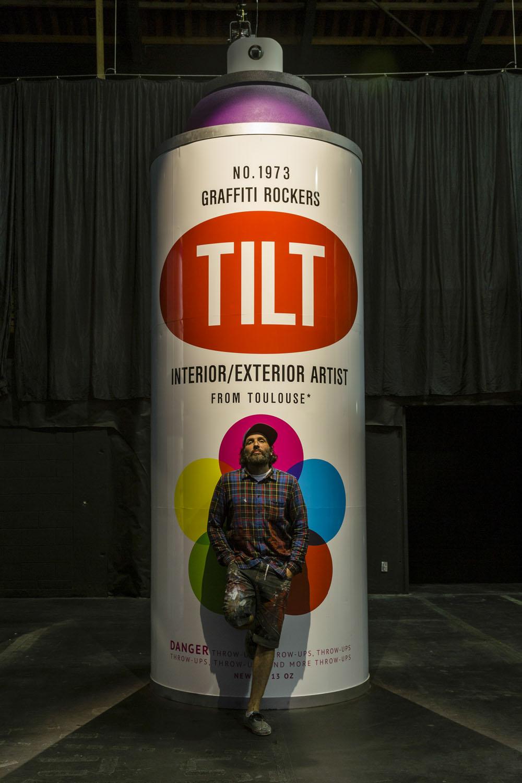 Tilt's giant spray can, Spectrum 2015 Christchurch – credit Luke Shirlaw