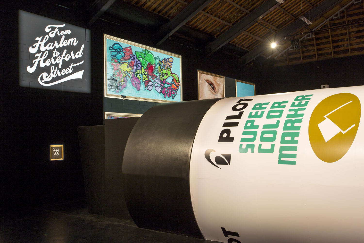 The completed giant marker pen, Spectrum 2016 Christchurch – credit Luke Shirlaw