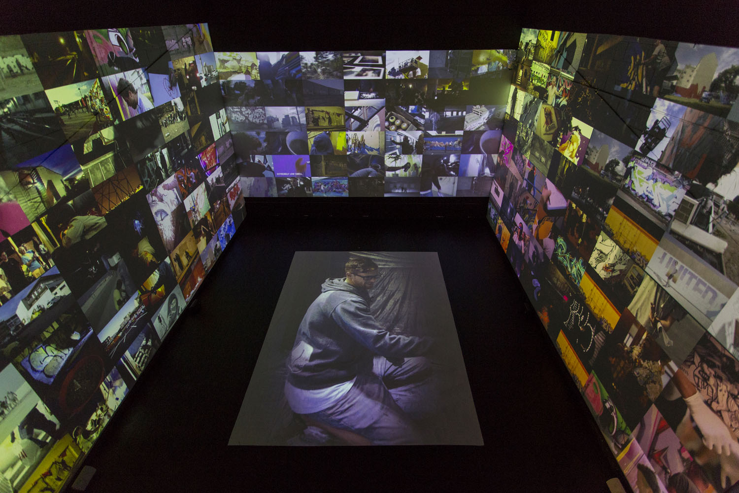 Selina MIles video installation completed 2, Spectrum 2016 Christchurch – credit Luke Shirlaw