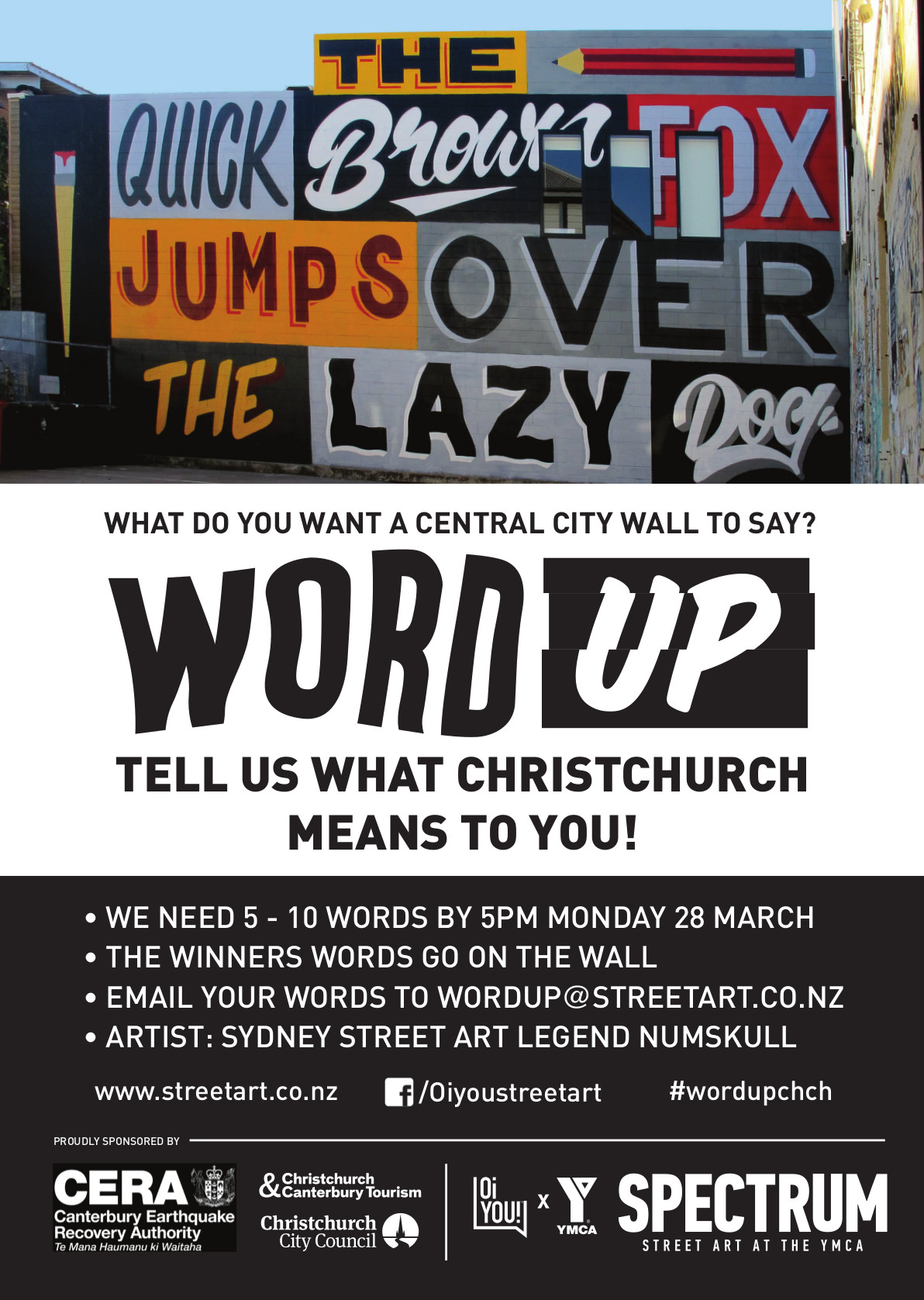 Call out for words, Word Up 2016 Christchurch