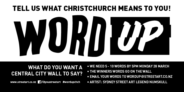 Call out for words 2, Word Up 2016 Christchurch