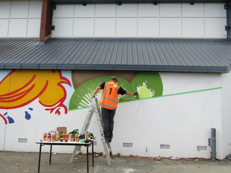 The beginnings 2, Dcypher Mural 2016 Christchurch