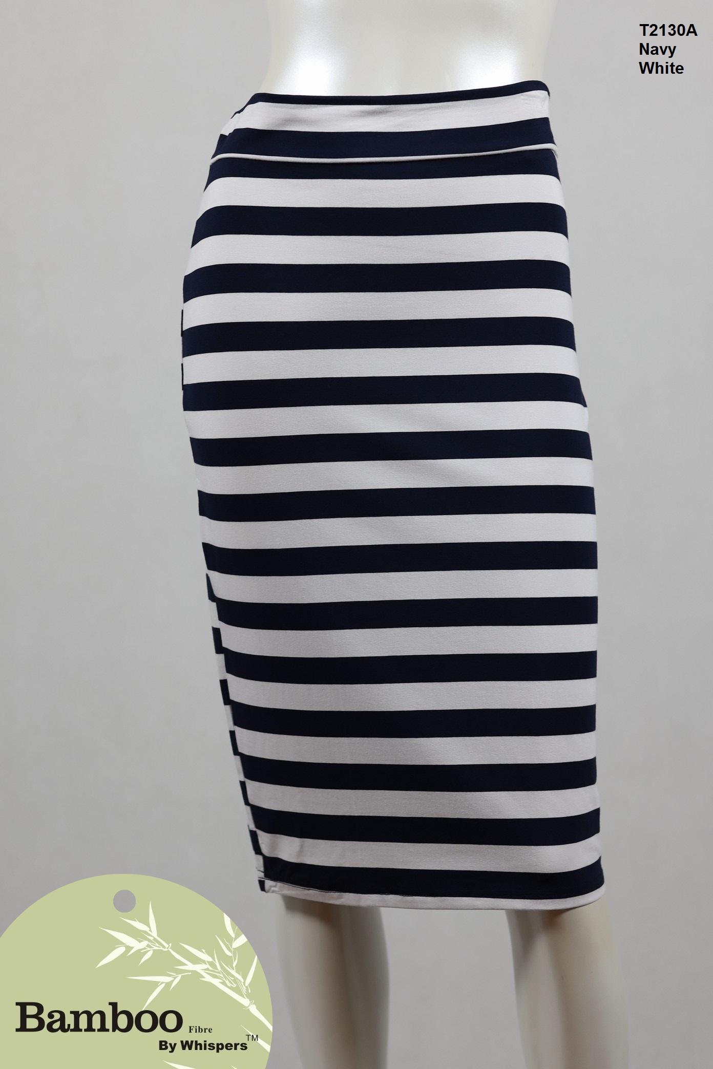 T2130A-Bamboo Skirt-Navy White.JPG