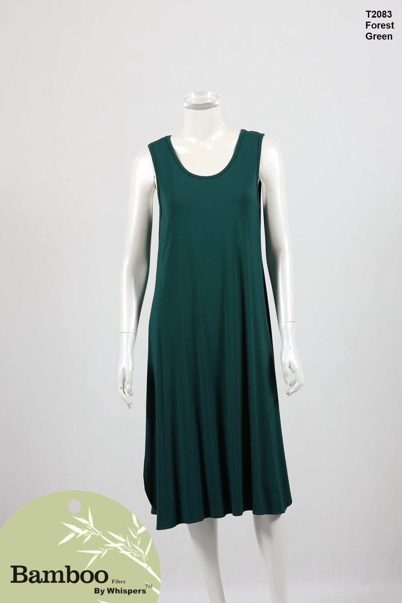 T2083-Bamboo Dress-Forest Green.JPG
