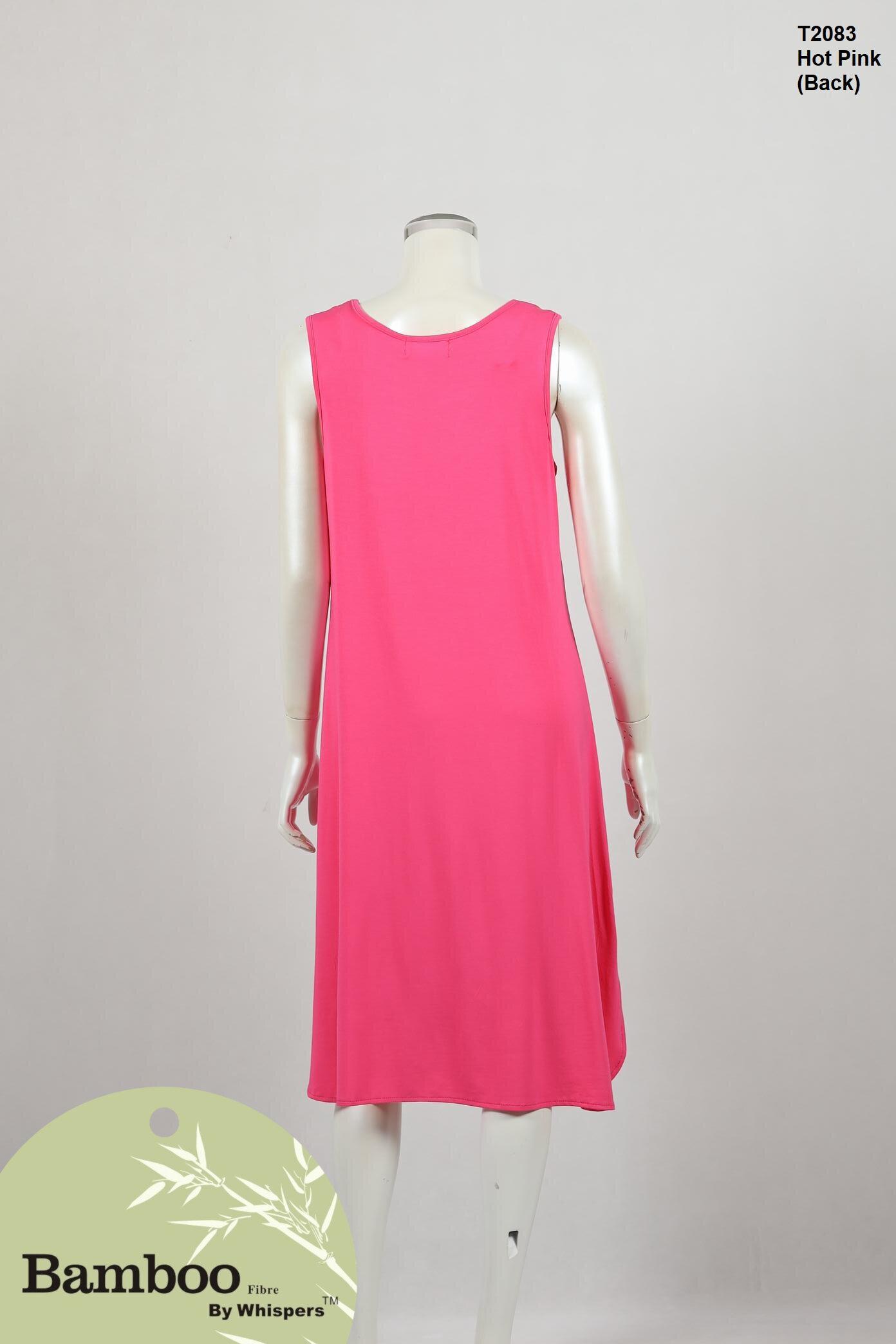 T2083-Bamboo Dress-Hot Pink-Back.JPG