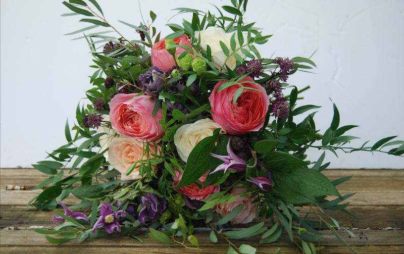 Kirsty's Bridal Bouquet, September 2017 Picture by Urban Flower Farmer