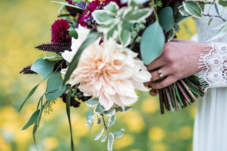 From an August shoot with  Caroline Opacic Photography  using British Flowers. Ring by  The London Victorian Ring Company
