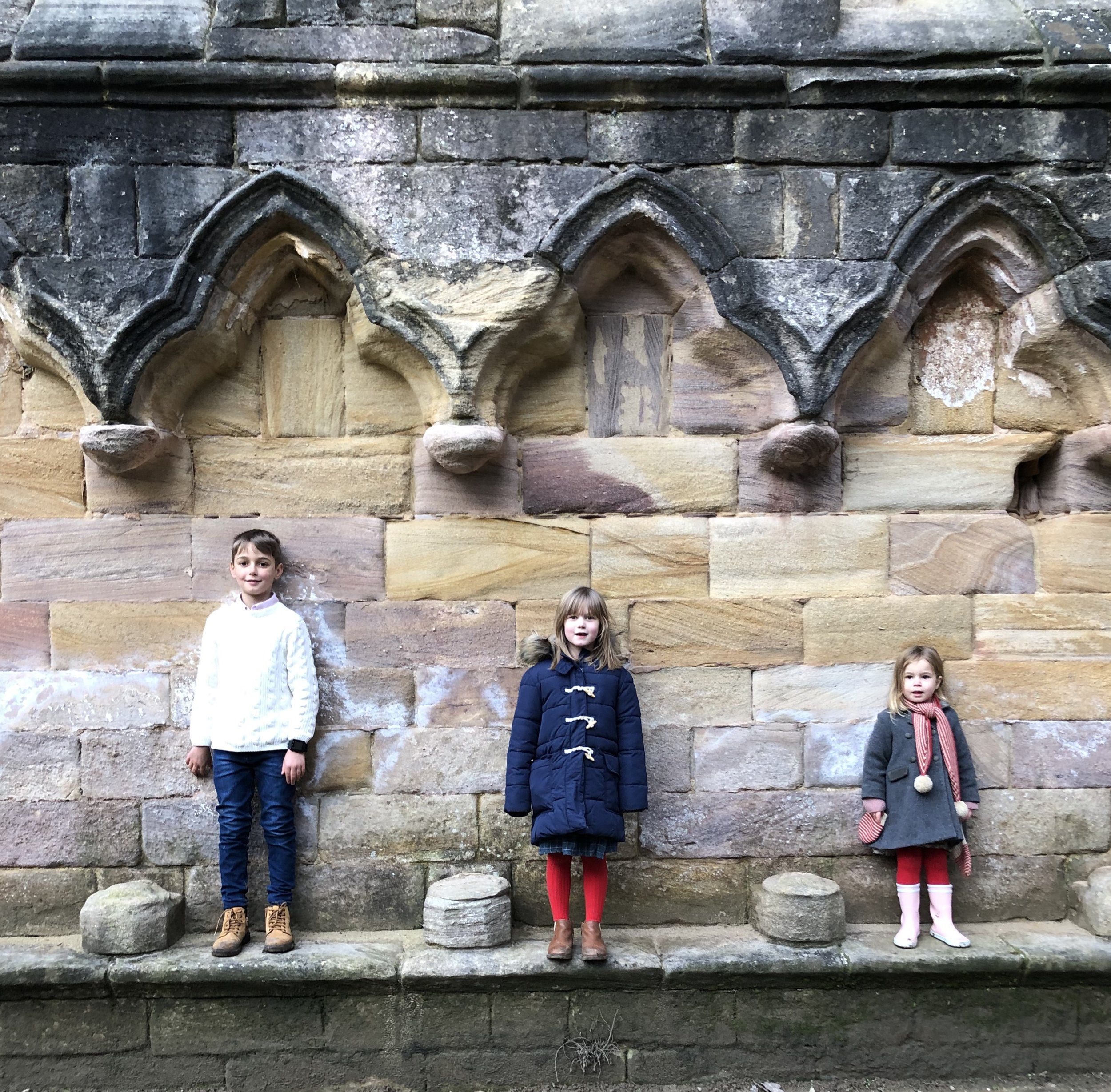 My trio love Fountains Abbey. Perfect for blowing away the half term cobwebs!