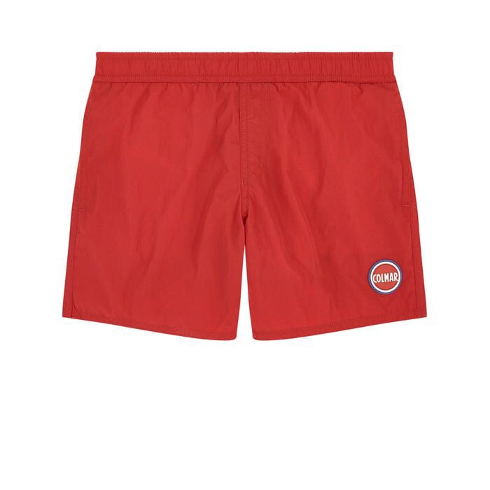 Perfect swim shorts for a sporty boy, not budgie smugglers but trim enough to allow for active play, one for the boys on the sailboats this summer.