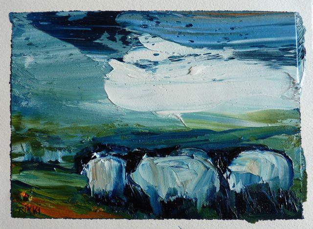Flocking against the Wind,oil on paper,14x19.5cm.JPG.jpg