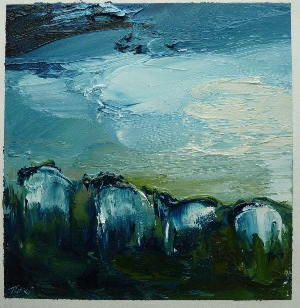 Mountain Flock walking along the track. oil on paper18x18cm.JPG (002).jpg