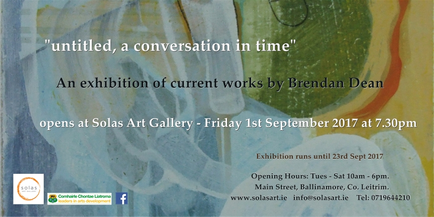 Invitation to Opening of Exhibition by Brendan Dean.jpg