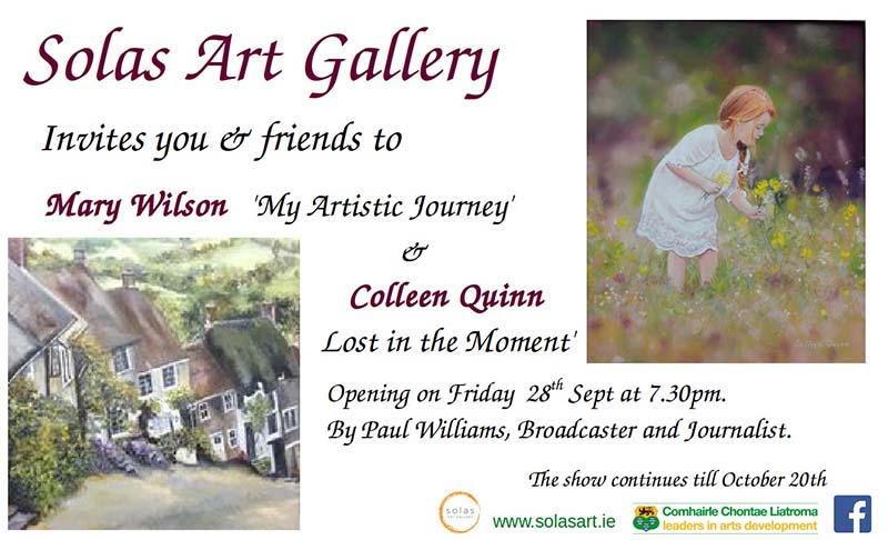 MARY WILSON 'MY ARTISTIC JOURNEY & COLLEEN QUINN 'LOST IN THE MOMENT' -