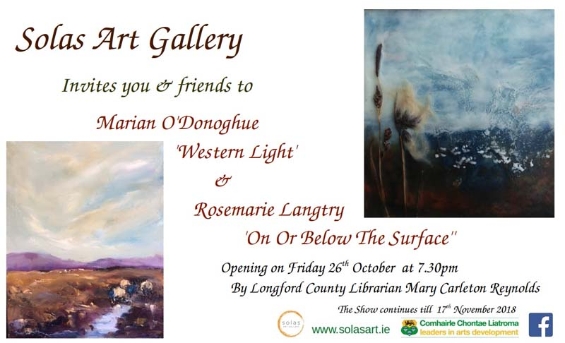 Marian O'Donoghue 'western light' & rosemarie langtry 'on or below the surface' -