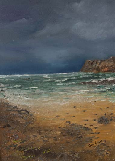 'A storm approaches Malin Head', Eimer Lynch, oil on canvas.jpg
