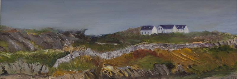 'Clifftop Retreat, Co.Galway' Lesley Mills, Oil on board.jpg