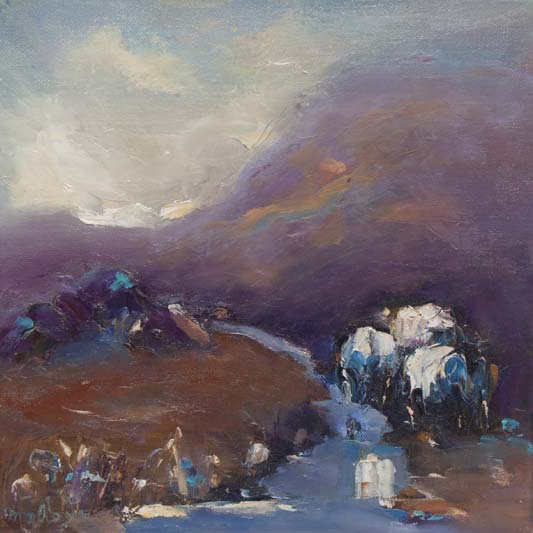 'Meandering through the bog', Marian O'Donoghue, Oils.jpg