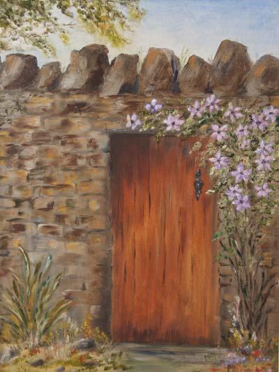 'My Garden Door', Marie Lee, oils.jpg