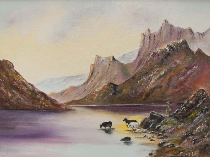 'The Highlands', Marie Lee, oils.jpg