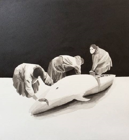 Family, Amy McGovern, Indian ink on paper 45x35cm.jpg