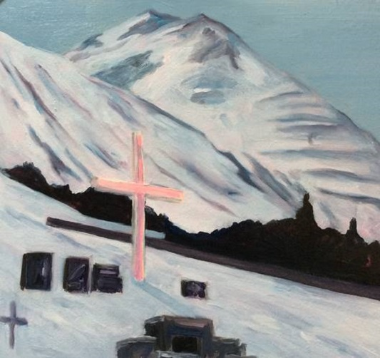 Cross, Amy McGovern, Oil on board 30x32cm.jpg