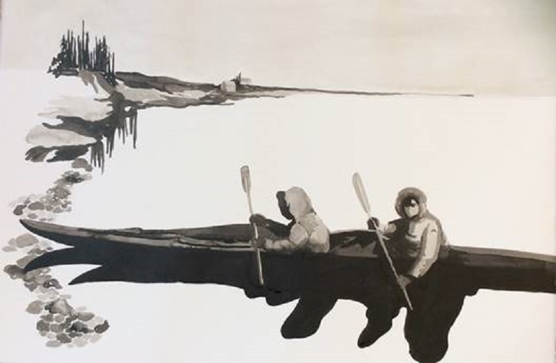 Glass Lake, Amy McGovern, Indian Ink on paper 40x60cm.jpg