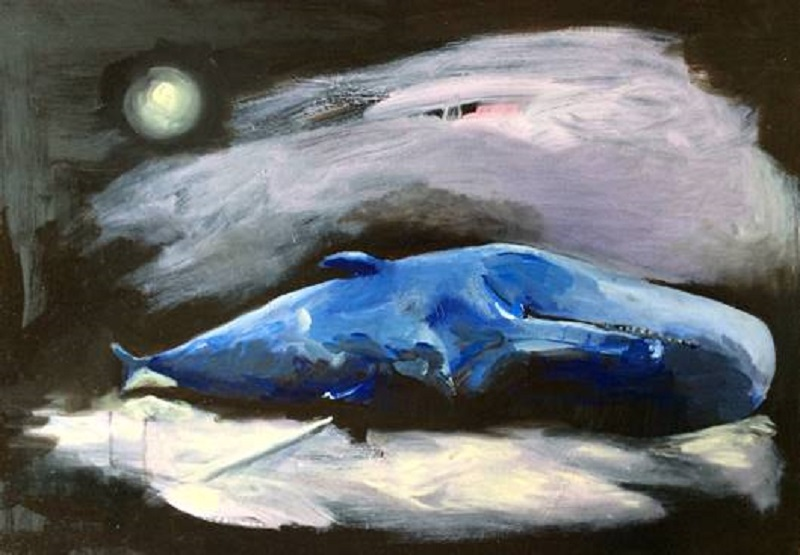 Whale, Amy McGovern,Oil on Board  40x60cm.jpg