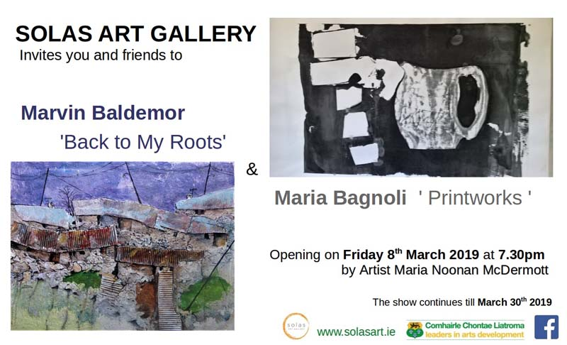 mARIA BAGNOLI 'PRINTWORKS' AND MARVIN BALDEMOR 'BACK TO MY ROOTS' -