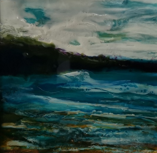 'Blue Waters',Colleen Quinn, Encaustic.jpg