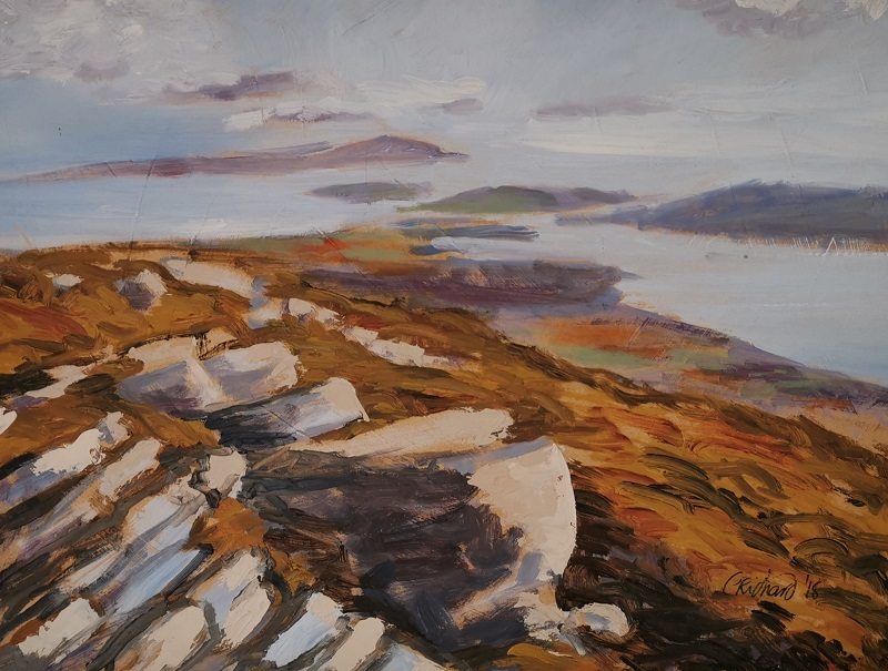 'Clew Bay',Celia Richard,Oil on hardboard.jpg
