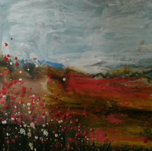 'Poppies',Colleen Quinn,Encaustic.jpg