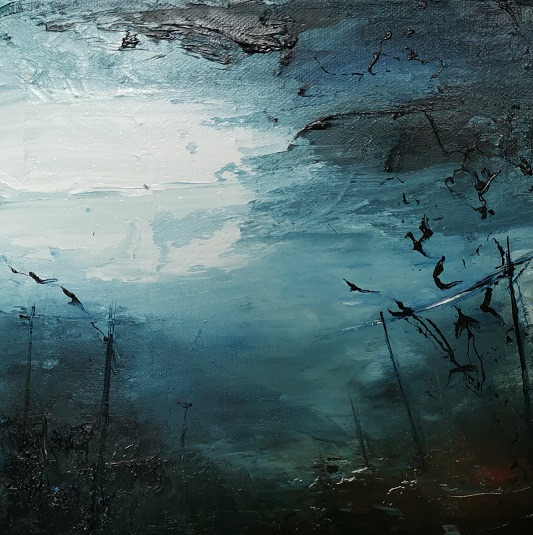 'Unrest amongst the crows',Rikki Van Den Berg, oil on canvas.jpg