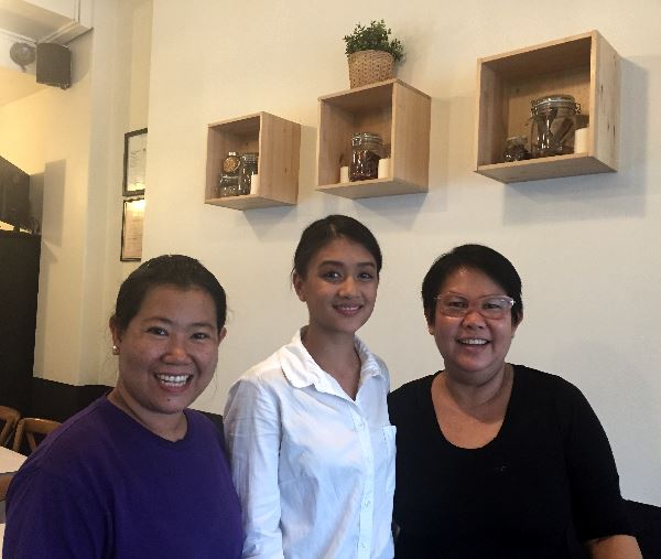 The Burman Kitchen team: Tin Tin Khine, Cassandra Naing and Lay Lay Naing