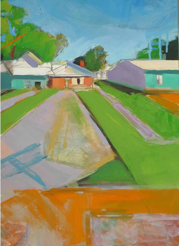 """Ogden, UT  ,2015 Oil on paper 15"""" x 11"""""""