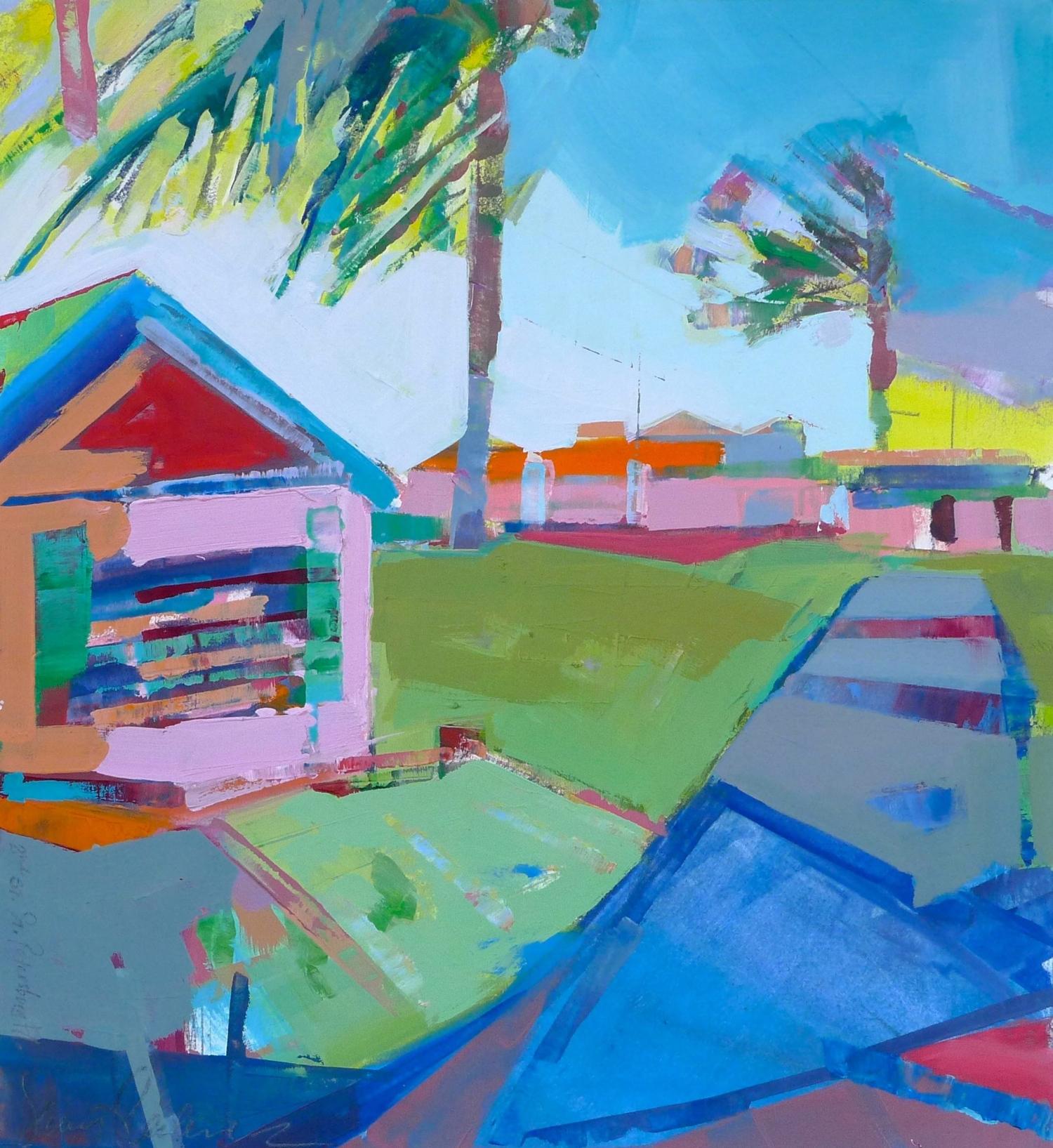 """St. Petersburg, FL  , 2015 Oil on paper 17"""" x 17"""""""