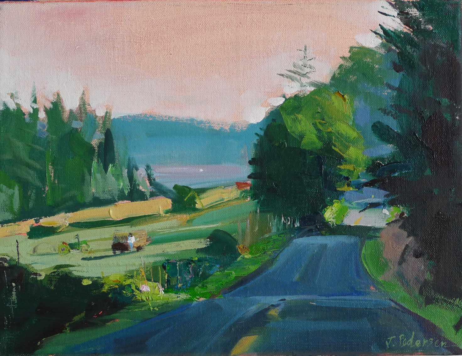 "Crow Valley Road  , 2015 Oil 9"" x 12"" (sold)"