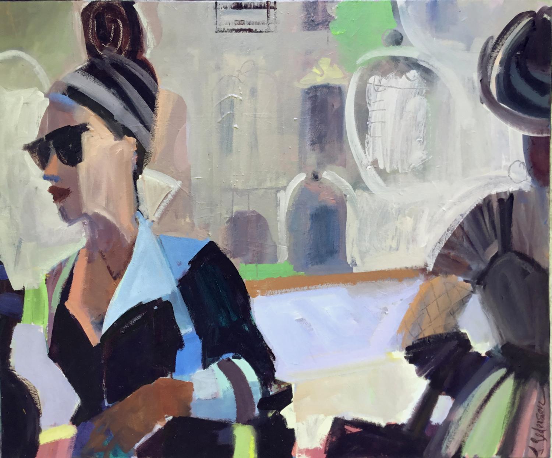 """Fashion Walk   2018  oil on canvas, 20x24"""""""
