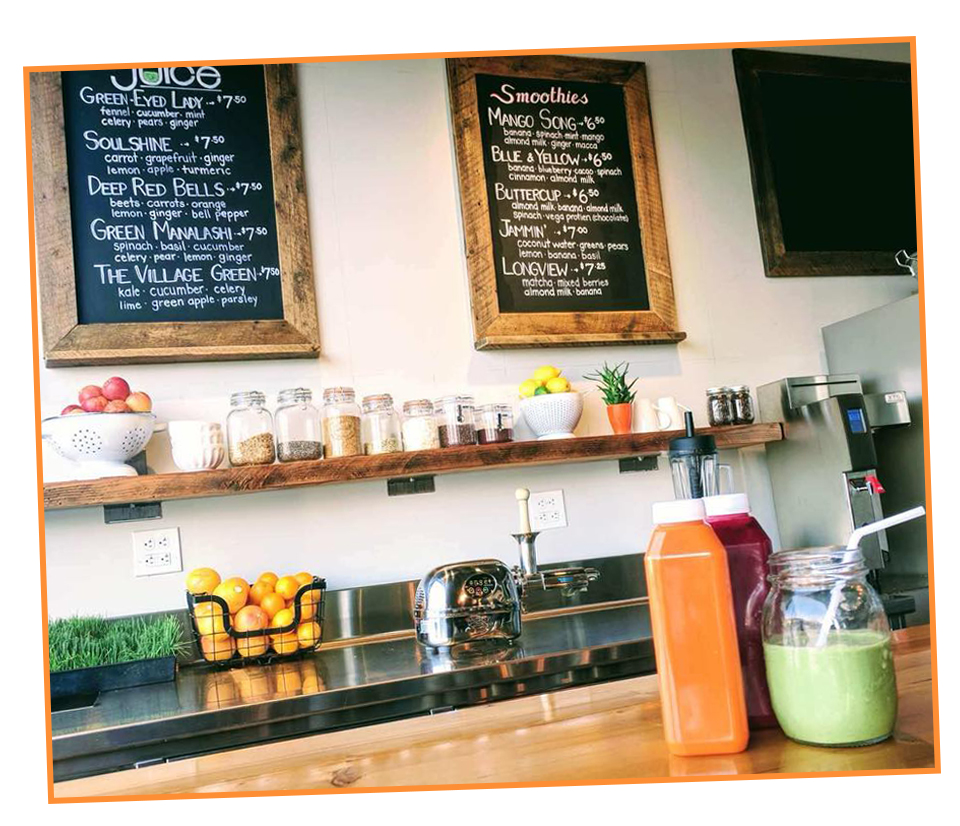 Firefly's Juice Bar - We proudly serve organic products and have a 100% plant-based menu.